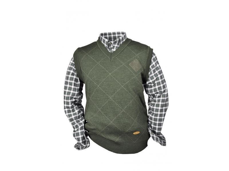 31b99e1a1ef4 Pánska pletená vesta HUBERTUS V-výstrih