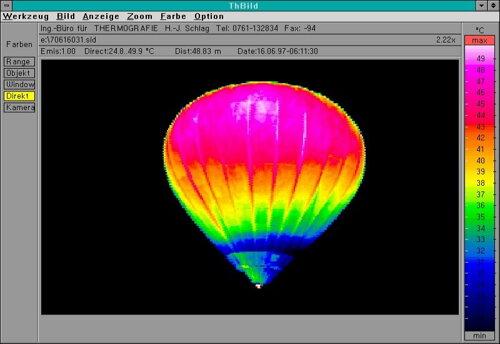 b72f8be0f4b8 Obrázok termovízie zobrazujúci rôzne úrovne teploty v teplovzdušnom balóne