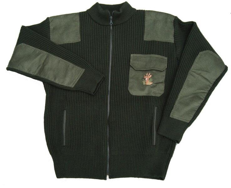 718e419ed Poľovnícky pletený sveter - zelený