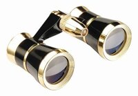 Helios Symphony Opera Glass (Black/Gold) Focus Free 3x25