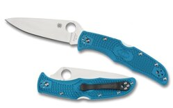 Spyderco C10FPBL Endura Flat Ground Blue
