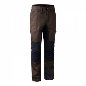 Deerhunter Rogaland Contrast Trousers Brown - nohavice