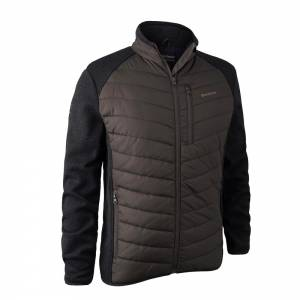 DEERHUNTER Moor Padded Jacket w. Knit Brown - bunda