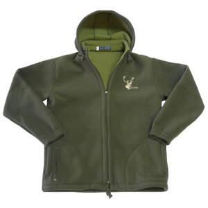 b274d3d34b68 Poľovnícka bunda fleece s kapucňou Hunter - olivovo zelená