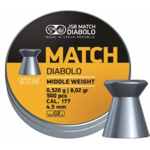 Diabolky JSB Match Middle weight 4,52mm 500ks