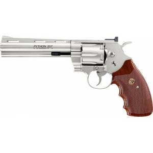 "Revolver CO2 Colt Python .357 6"" Full Metal nickel, kal. 4,5mm BB"