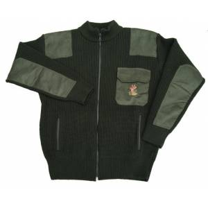 639c11664bca Poľovnícky pletený sveter - zelený